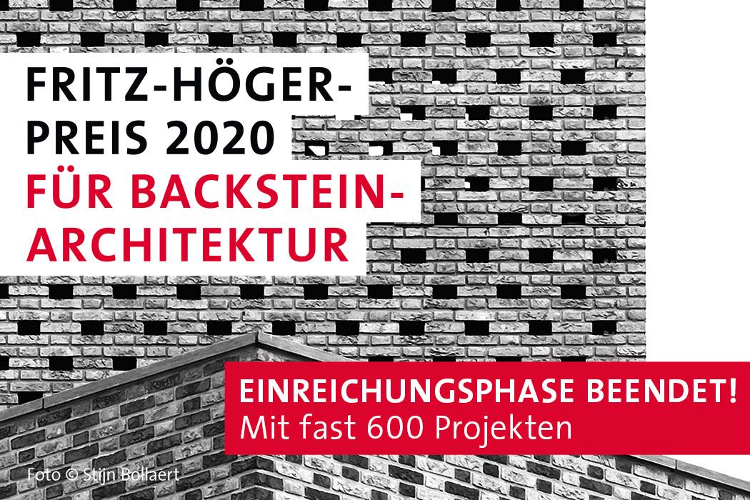 Fritz Höger Preis für Backstein-Architektur 2020